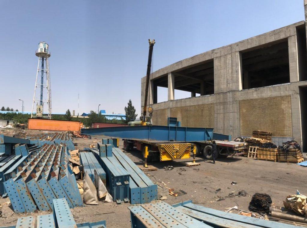 شروع عملیات ساخت استراکچر سوله انبار شرکت لاستیک سهند با مدیریت نگهداشت کاران
